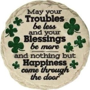 Irish ☘️ Blessing stepping stone plaque shamrock